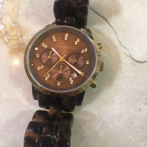 Michael Kors Accessories - Michael Kors Tortoise & Gold Unisex Watch